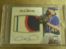 JACOB DEGROM 2014 NATIONAL TREASURES 3 CLR PATCH AUTO RC #3/10 NEW YORK METS!!