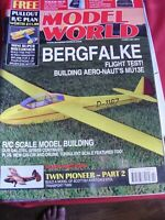 "MODEL AIRCRAFT RCMW RC MODEL WORLD FEBRUARY 2017 MINI SUPER BISTORMER 40"" PLAN"