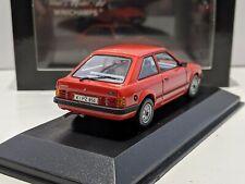 Ford Escort Mk3 Red 1/43 MINICHAMPS Rare