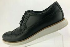 Cole Haan LunarGrand Wingtip Oxfords Black Leather Brogue Comfort Mens Size 10 M
