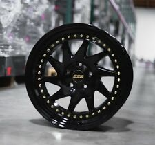 18X8.5 ESR SR09 5x100 +30 Gloss Black Rims Fits Scion Fr-Z Brz Tc Wrx