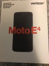 "Motorola Moto E4 GSM UNLOCKED 4G LTE 5"" 16GB Memory 2GB RAM Smartphone Black NEW"
