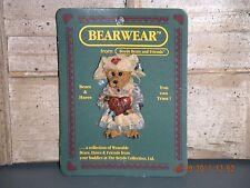 Boyds Bears 1997 ~Clara.Get Well~ Bearwear Pin Style# 26103
