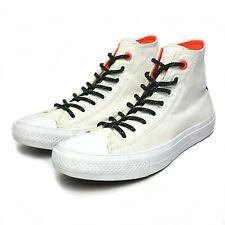 Converse All Star Womens High-Top Canvas Shoes White Orange Black 153534C Sz.8.5