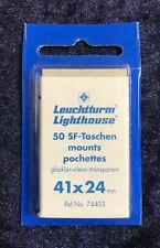 Leuchtturm 50 SF-Taschen mounts pochettes, glasklar-clear-transparent, 41x24 mm