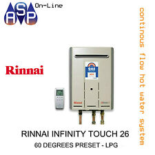 RINNAI INFINITY TOUCH 26 - 60 DEGREES PRESET - LPG
