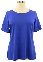 A354986 Isaac Mizrahi Live! Essentials XL Ink Blue Pima Cotton Swing Tunic