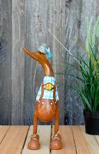 Bayern-Ente aus Holz, H: ca. 30 cm, Laufente, Entenwirt, Lederhose, München