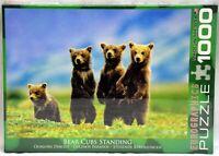 EuroGraphics Bear Cubs Standing Puzzle 1000 pcs USA made 48.89cm X 67.63cm NIB