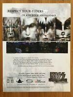 KISS Psycho Circus Sega Dreamcast PC 2000 Poster Ad Gene Simmons Band Art Rare!