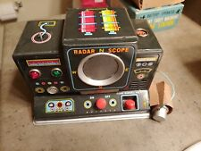 ( New in BOX )Toys Early Warning Radar Station Battery Operated Tin Japan 1950s