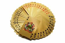 24k Pure Gold Plated Playing Cards Full Poker Pub Game Deck 500 Euro Flexible