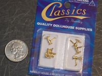 Dollhouse Miniature Crown Silver Set of 3 1:12 inch scale  G37 Dollys Gallery