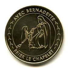 65 LOURDES Avec Bernadette, Prier le chapelet, Monnaie de Paris