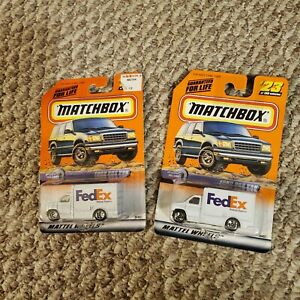 New in packages Matchbox #59 FedEx Truck - Set of 2