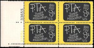 US #1463 MNH plate block of 4, 8c PTA