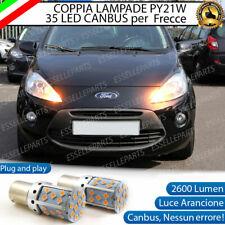 COPPIA LAMPADE PY21W CANBUS 35 LED FORD KA MK2 FRECCE ANTERIORI NO ERROR
