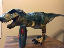 1997 Jurassic Park The Lost World Bull T-Rex Jp.28 Complete With Survival Pod