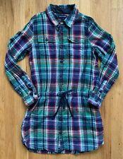 Ralph Lauren Polo Dress Size 12 EUC Green & Blue Plaid Adorable!