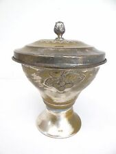 Vintage Silverplate Hallmarked P Two Towers Candy Dish Urn Bowl Planter Dutch?