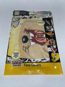 Face Mask - Looney Tunes - Taz Covering Washable Reusable Breathable 2 Pack