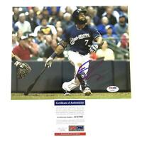 Eric Thames signed 8x10 photo PSA/DNA Milwaukee Brewers Autographed