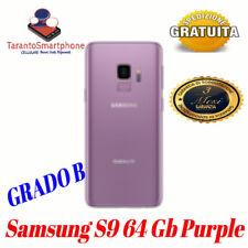 SMARTPHONE SAMSUNG GALAXY  S9 - 64GB - PURPLE USATO RICONDIZIONATO GRADO AB