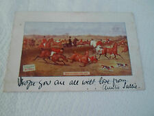 Old Hunting Postcard Advertising  Elliman's Embrocation Franked+Stamped 1904
