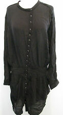 SWILDENS Black Long Sleeve Designer Viscose Dress Size 3, NWT $ 315.00!