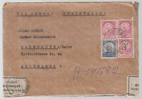 1937 Sao Paulo Brazil Registered cover to Karlsruhe Germany