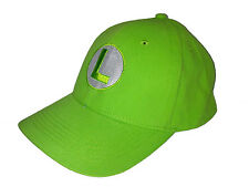 Super Mario Luigi Baseball / Outdoor Cap Embroidered Quality Hat - Green