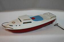"""1950's Sutcliffe Clockwork Cruising Boat, """"Commodore"""", New in Box"""