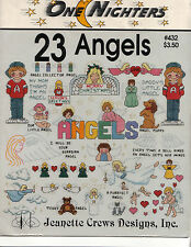 23 ANGELS ONE NIGHTERS CROSS STITCH PATTERN LEAFLET PUPPY & CAT ANGEL, XMAS MORE