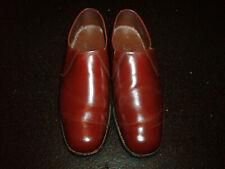 VINTAGE SAVILE ROW BROWN LEATHER SLIP ON SHOES SIZE UK 7.5 STYLE 1587 6-560