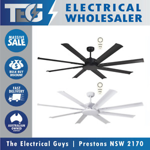 """Martec Albatross 84"""" Large DC Ceiling Fan With Remote 2100mm White Black Nickel"""