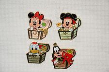 Tokyo Disney Resort Game Prize Pin TDS Pirates Summer 2017 Mickey Minnie 4 pc