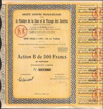 Filature de la Soie & Tissages des Soieries (BULGARIE) (S)