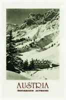 Österreich Austria Berge Blechschild Schild gewölbt Metal Tin Sign 20 x 30 cm