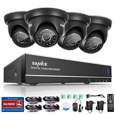 Sannce 4Ch 1080N 4in1 Dvr 1500Tvl Outdoor Camera Home Security System App Remote