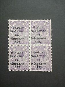 IRELAND (1922) – block of 4, three pence unmounted mint
