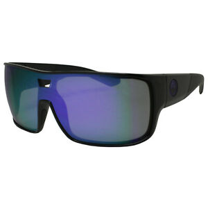 Dragon Hex 29397-005 Shiny Black Frame with Purple Ion Mirror Lens Sunglasses