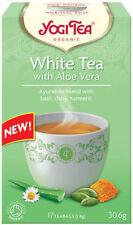 Yogi Tea White Tea Aloe Vera 17 Bags Blend Of Basil Daisy And Turmeic