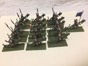 Lot Of 16 Ral Partha 02-101 Lizard Riders Painted