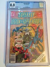 DC Comics Superboy and the Legion of Super Heroes #230 1977 CGC 8.0 White Pages