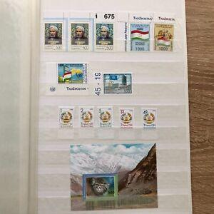 AD7)) Tadschikistan postfrische Partie auf Steckseiten
