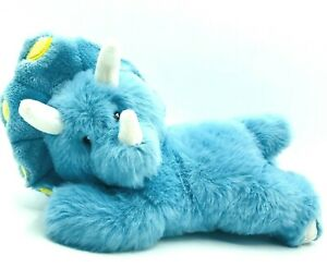 """Little Miracles Baby Blue Dinosaur 9"""" Plush Triceratops Lovey Costco Soft Plush"""