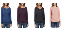 NEW Buffalo Ladies' Long Sleeve Cozy Top - VARIETY