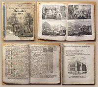 Pirnaischer Oeconom.-Haushaltungs-Kalender 1843 Kalendarium mit Lithografien xz