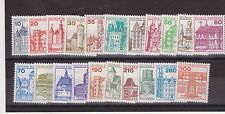 DEUTSCHE BUNDESPOST GERMANY MNH SET CASTLES FULL SET 21 1977-1990 SG 1805-1812d