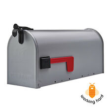 GIBRALTAR POST MOUNT MAILBOX Medium Rural Box Mail Storage Galvanized Steel Gray